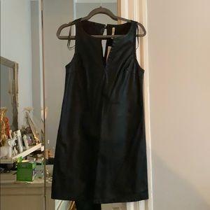 Faux leather shift dress